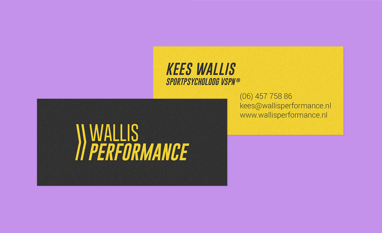 Business card Wallis Performance