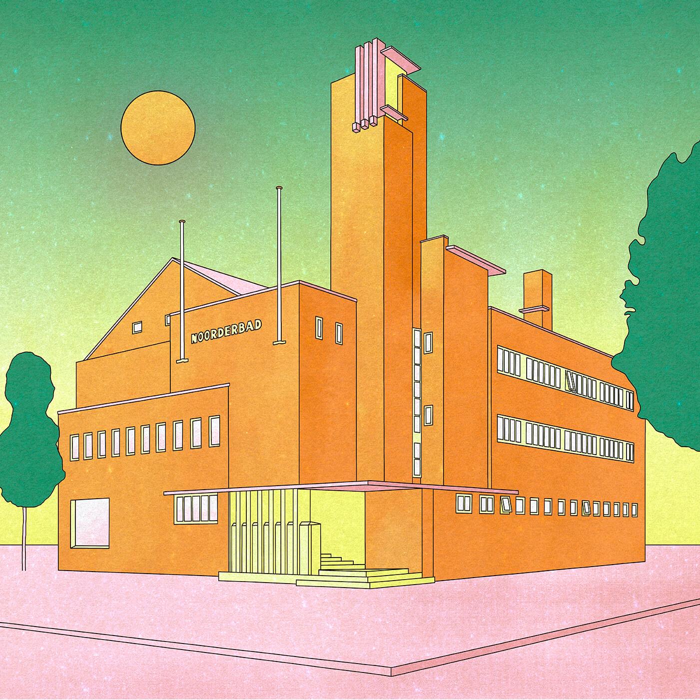 Illustration - Noorderbad Groningen