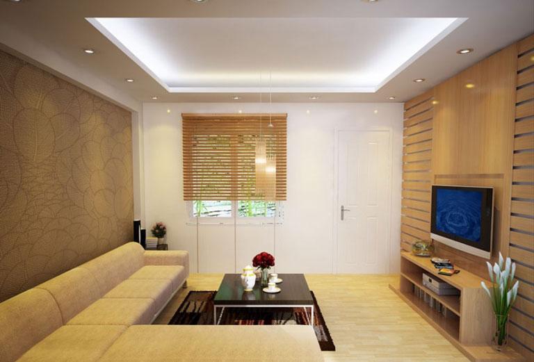 mẫu thạch cao phòng khách đơn giản