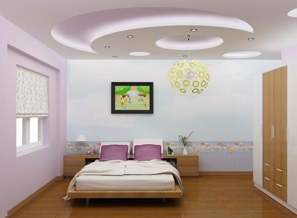 mẫu thạch cao phòng ngủ nhỏ