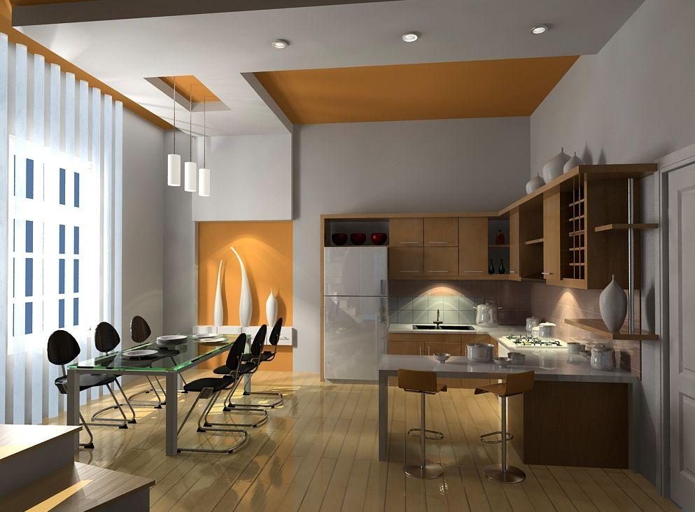 mẫu thạch cao phòng bếp nhà ống