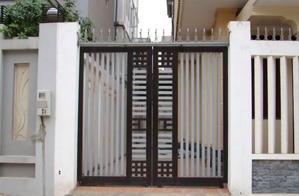 mẫu cửa sắt 2 cánh cổng