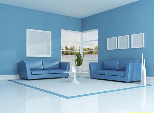 sơn nhà màu xanh