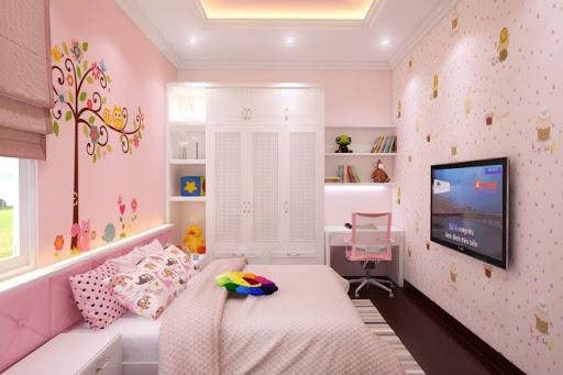 sơn nhà màu hồng kem