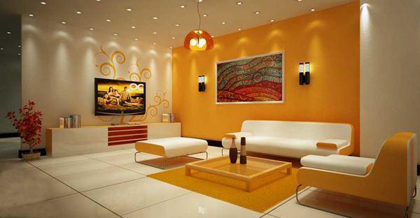 sơn nhà màu cam