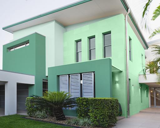 sơn nhà màu xanh rêu
