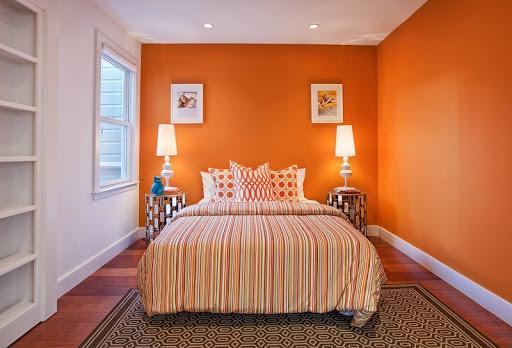 sơn nhà màu cam đất