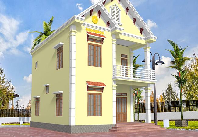 sơn nhà màu vàng ánh kim