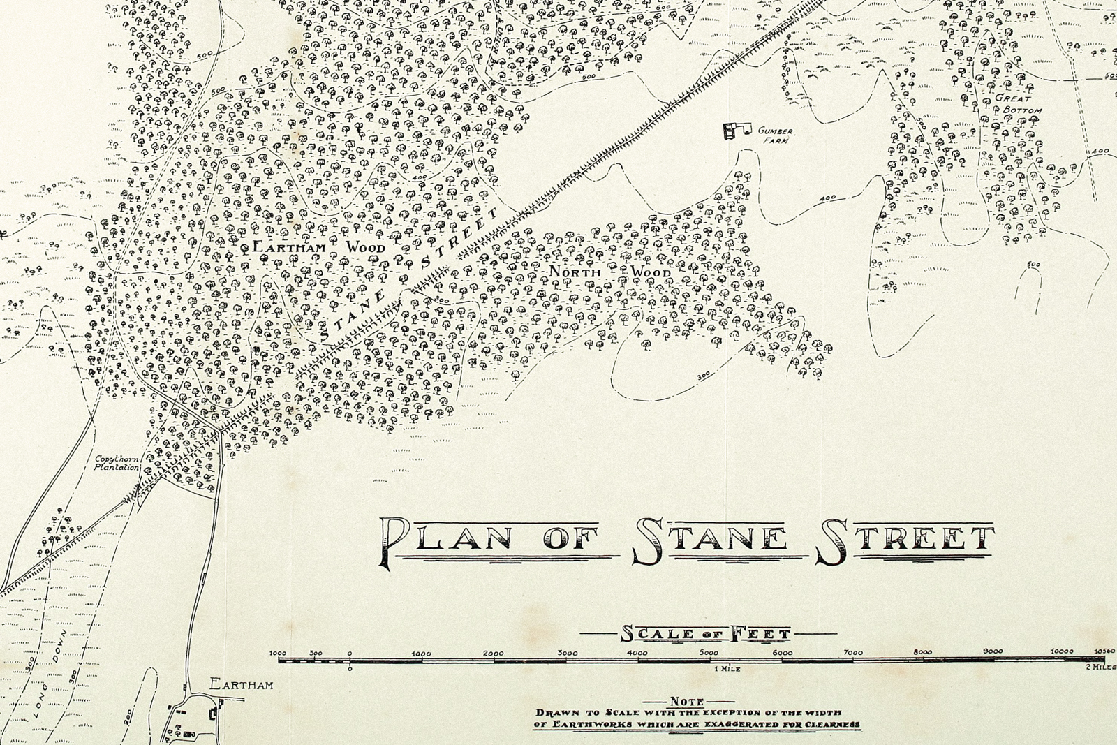 a map of Stane Street