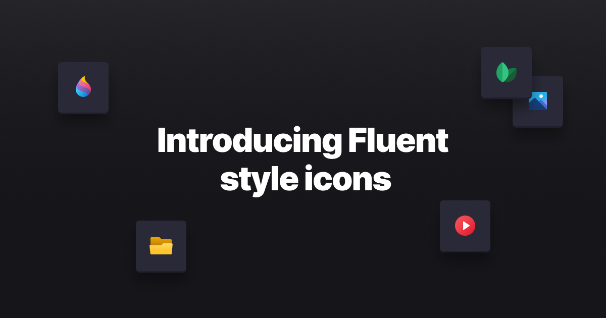Fluent Style Icons ? Icons8