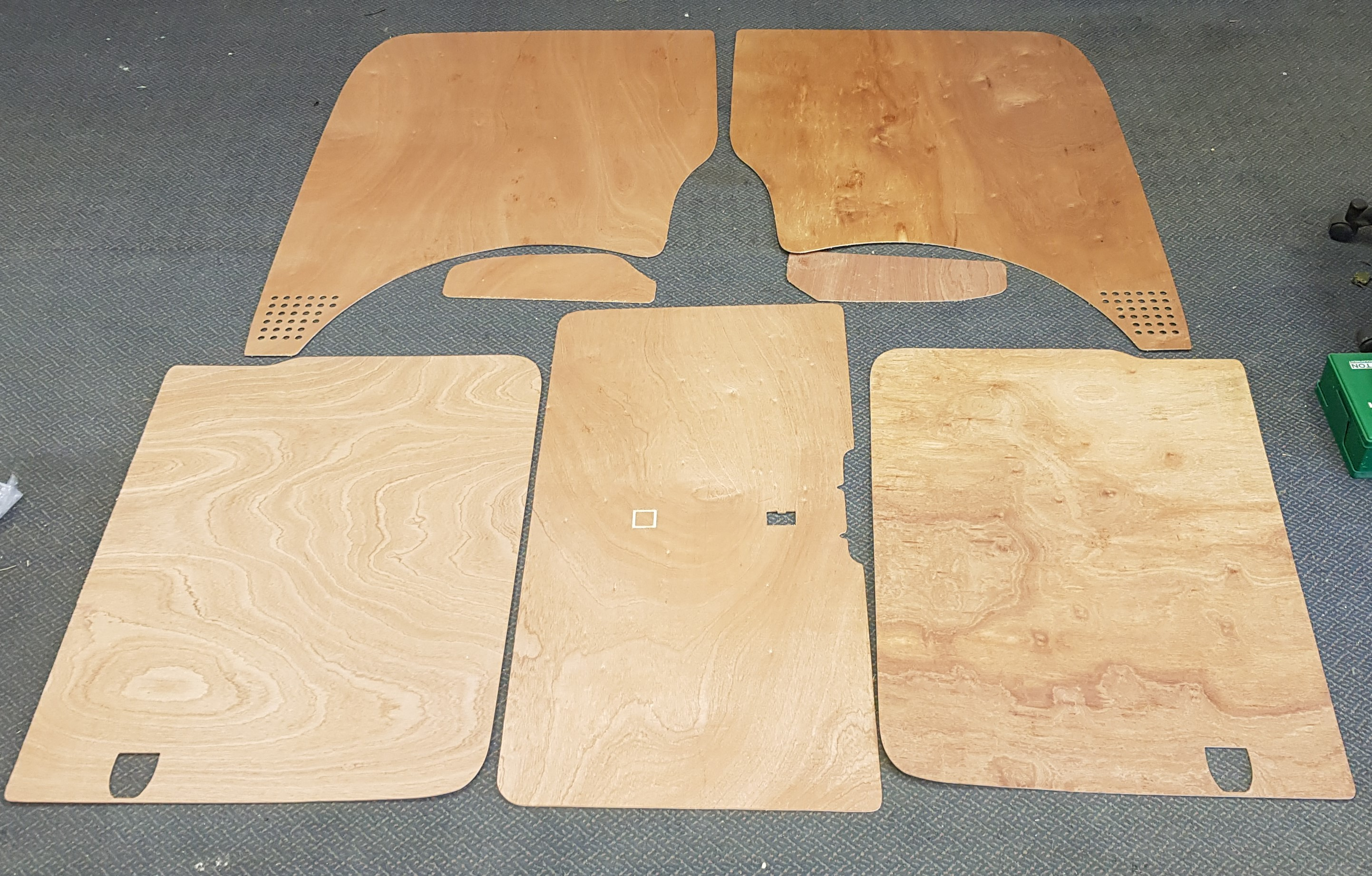 SWB T5 & T6 Plywood kit - Tailgate - Twin Slider
