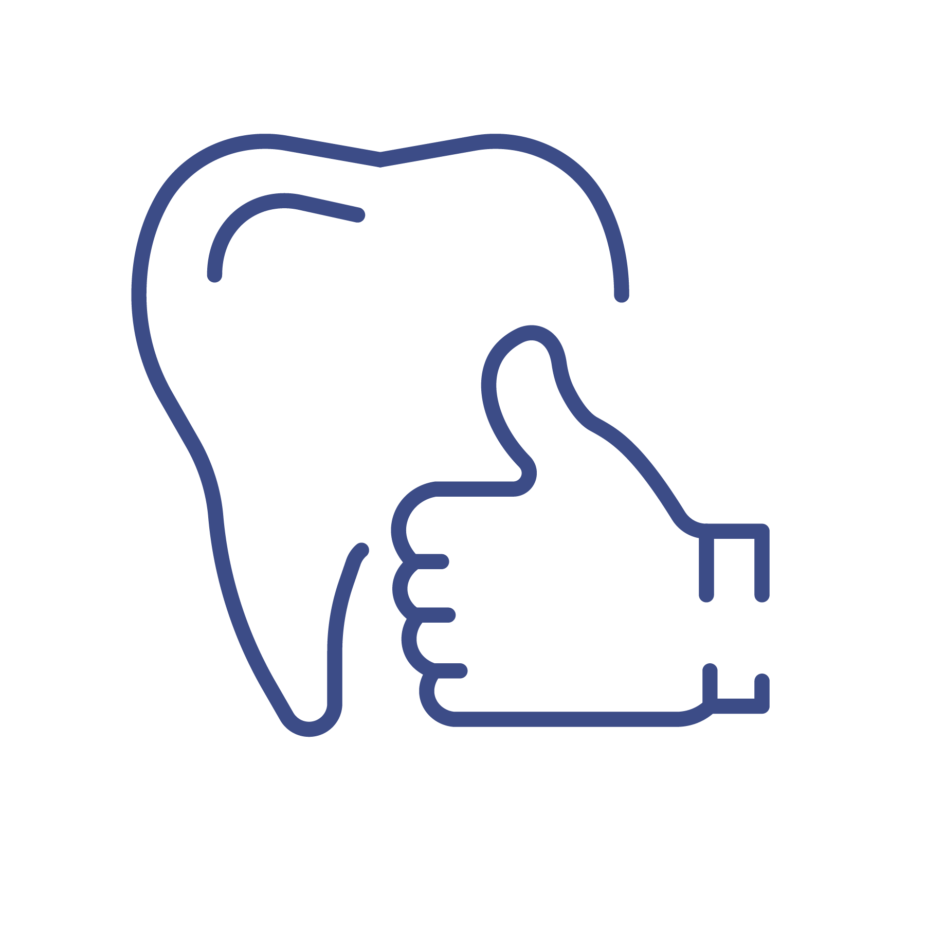 thumbs up tooth icon