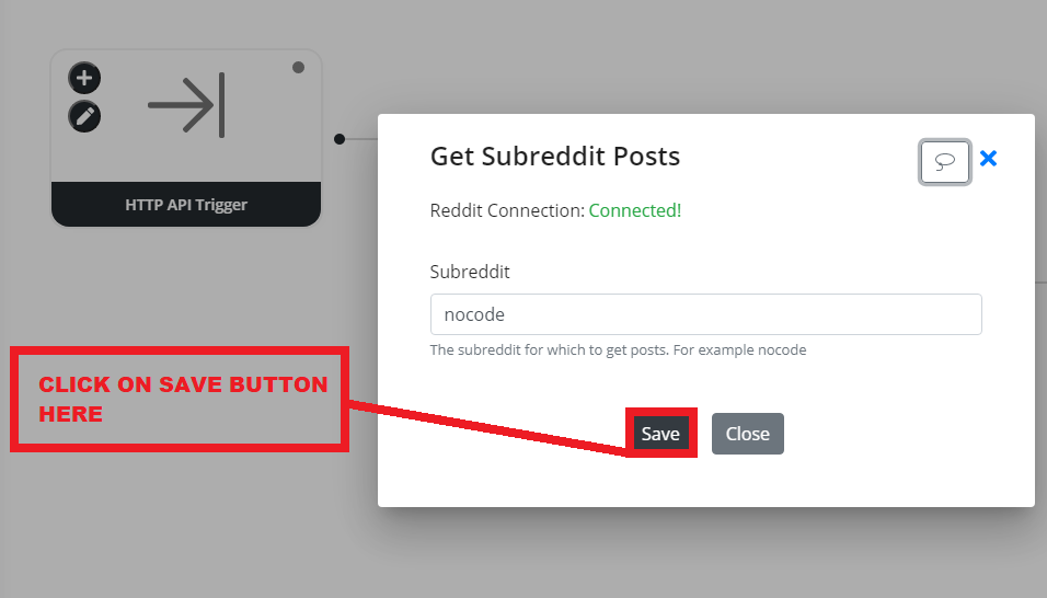 Byteline flow designer - save subreddit