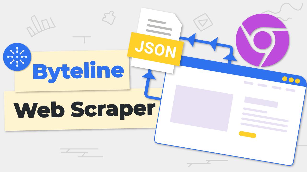 Using Byteline Web Scraper