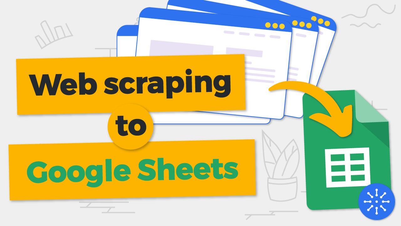 Data scraping eCommerce sites to Google Sheets