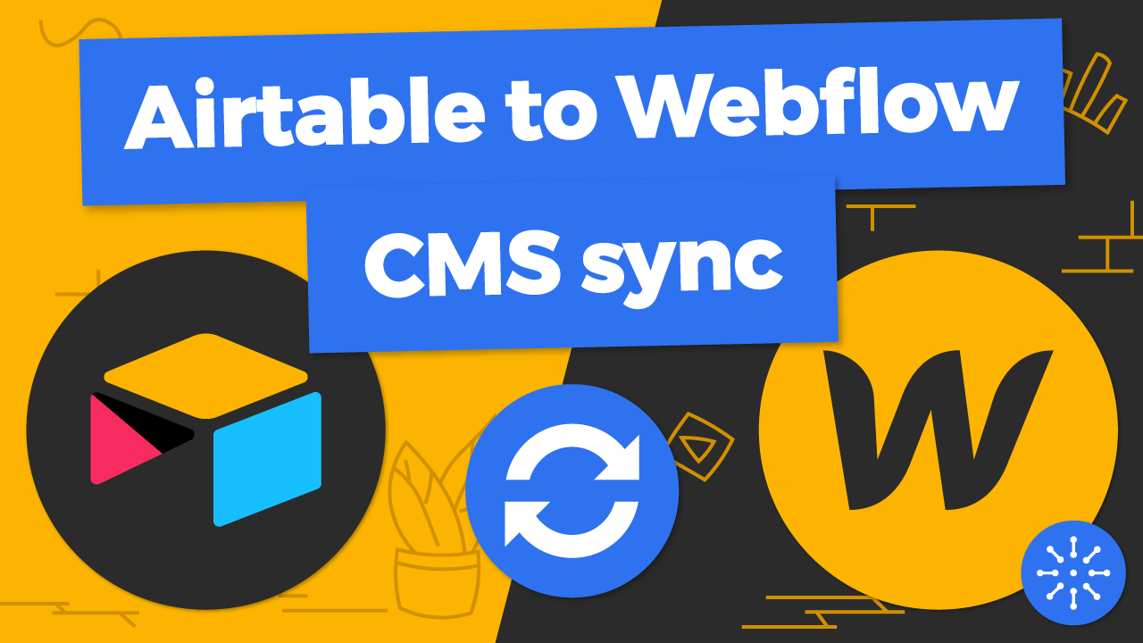 Airtable to Webflow CMS sync using Byteline