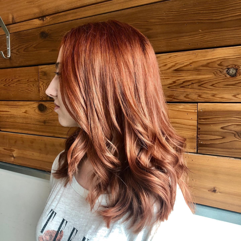 woman's haircut from hair salon