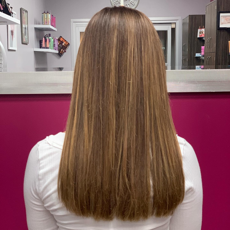 hair cut at hair salon