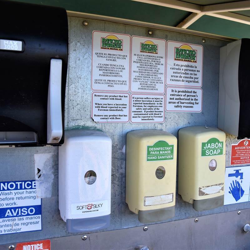 Field safety. Providing Sanitation