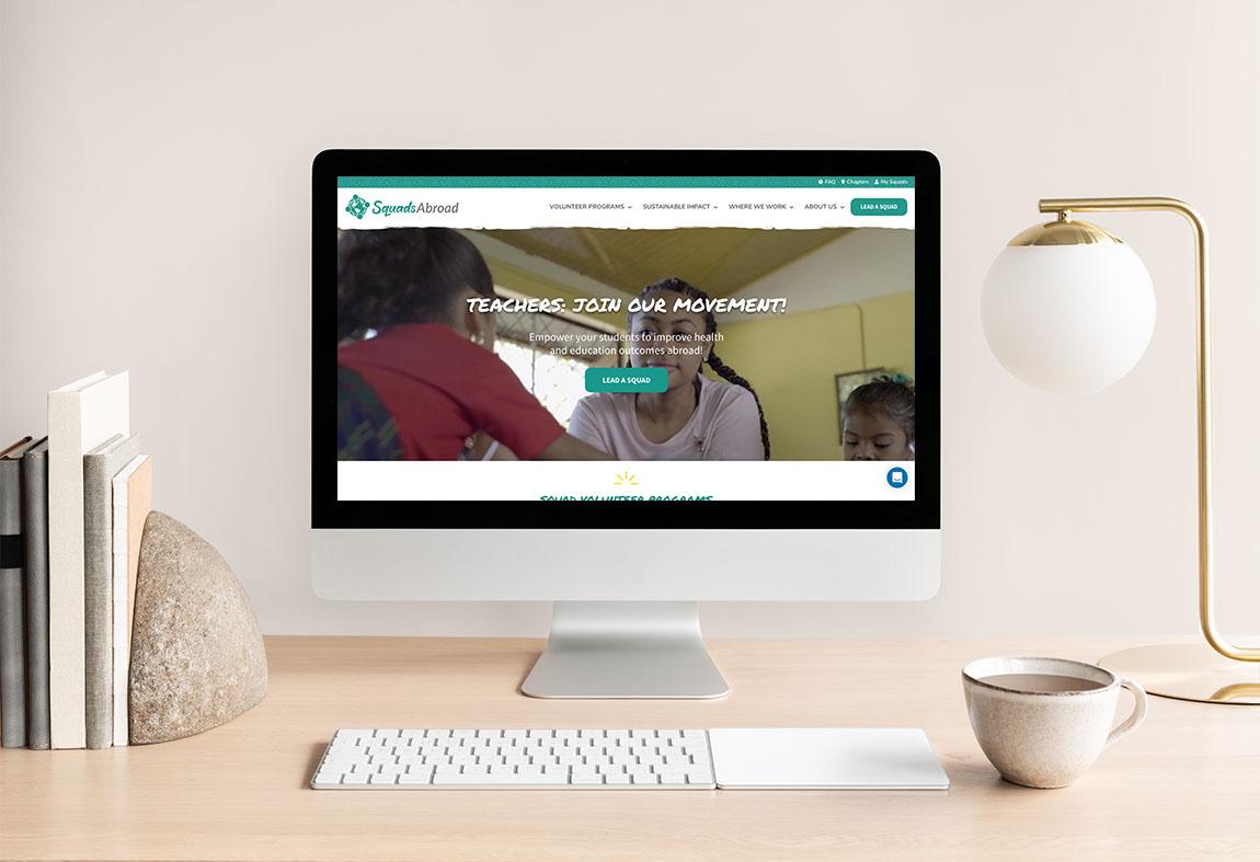 Custom website and logo suite design for global non-profit.