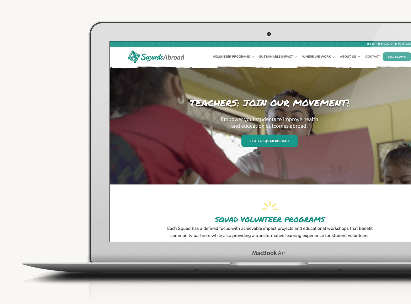 Custom website and logo suite design for global non-profit.