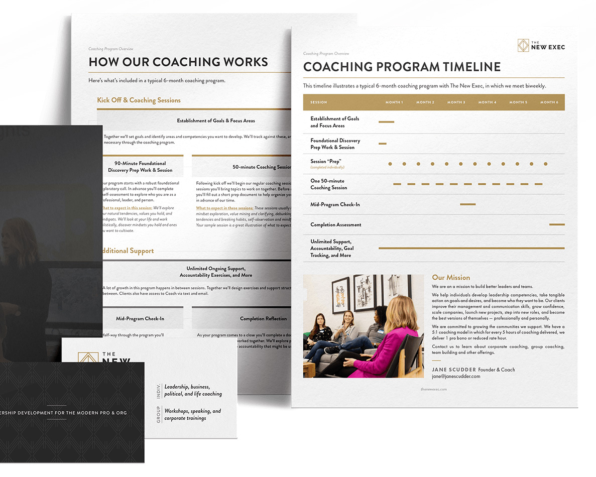 Brand identity suite for business coach in Chicago, IL.