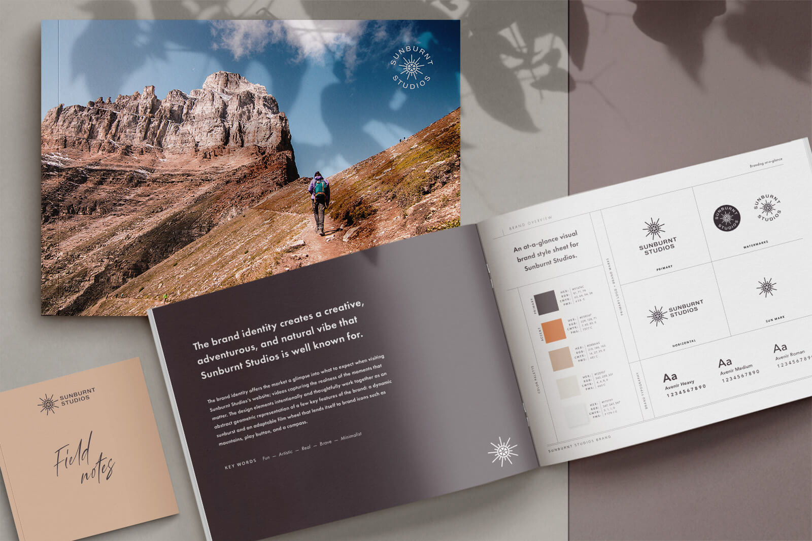 Brand identity (logo design) and style guidelines for videography adventure company and entrepreneur.