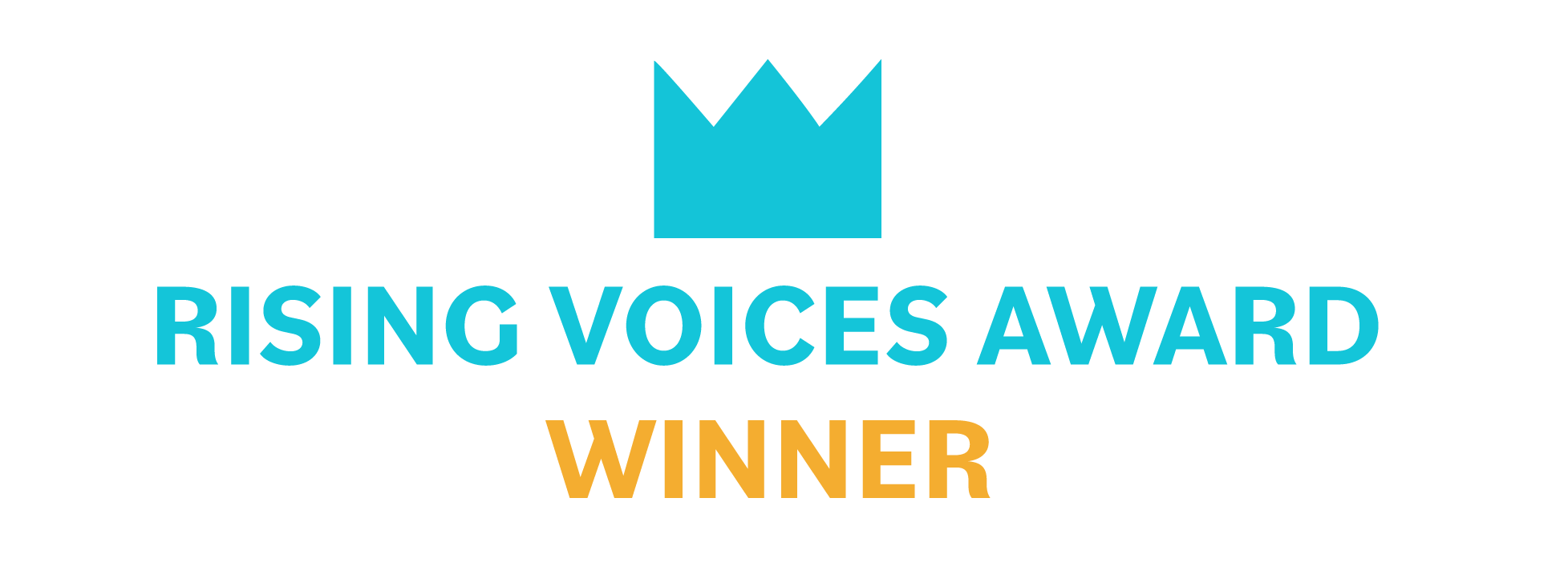 Rising Voices Award winner badge.