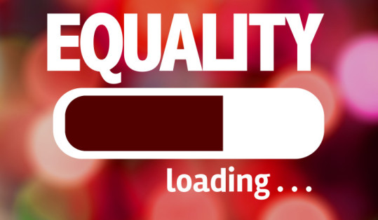 """A loading browser bar with the caption """"EQUALITY loading..."""" Photo courtesy of The Update."""