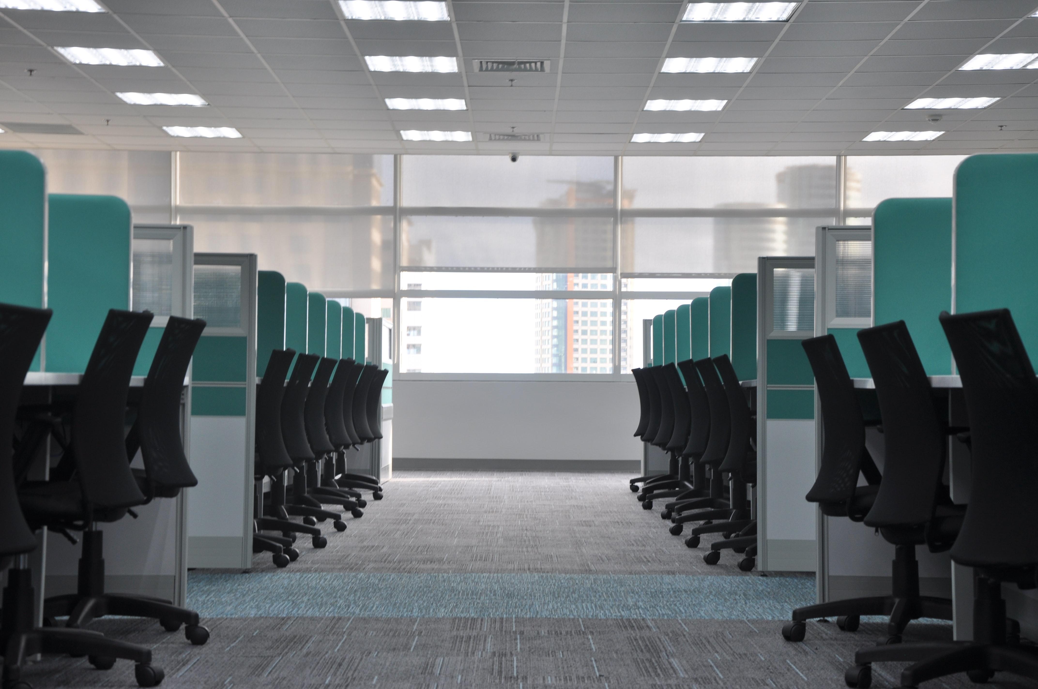 Empty office space. Courtesy of Kate.Sade on Unsplash.