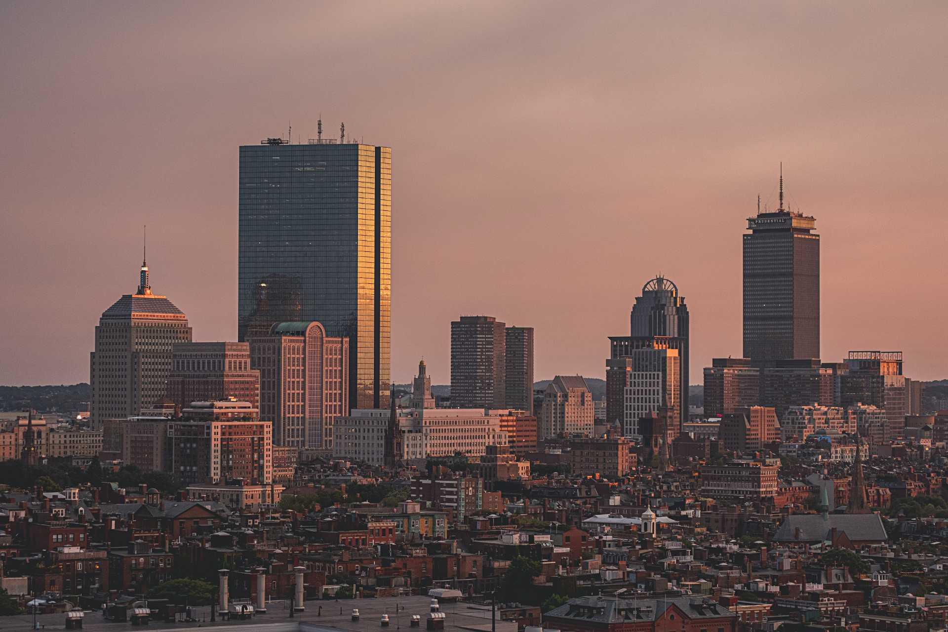 A skyline of downtown Boston. Photo courtesy of Osman Rana on Unsplash.