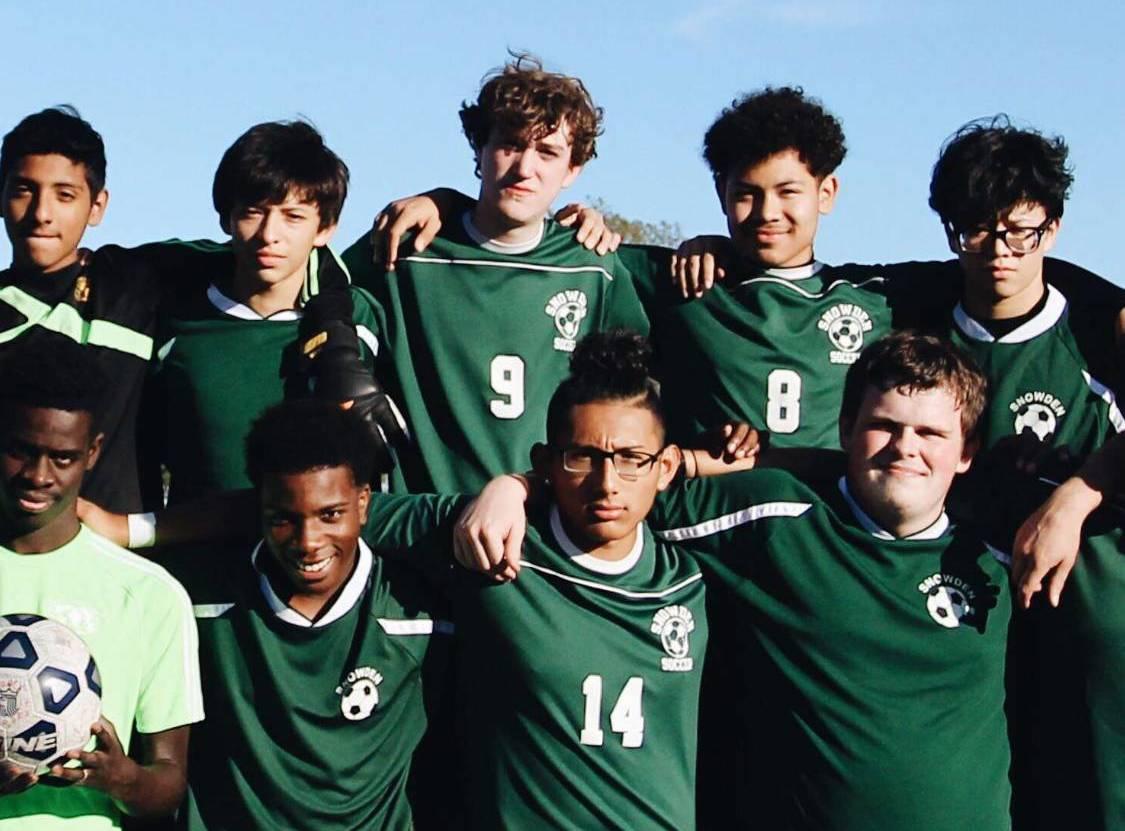 Photo of Harnish's soccer team. Photo courtesy of Andrew Harnish.