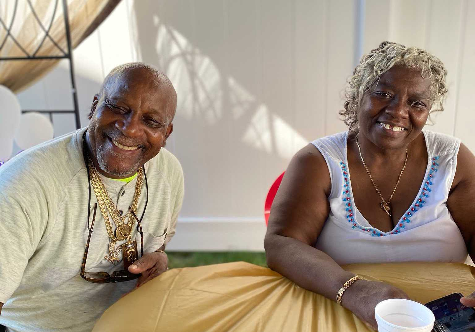 Nicholas' grandparents relaxing together. Photo courtesy of Jhada Nicholas.