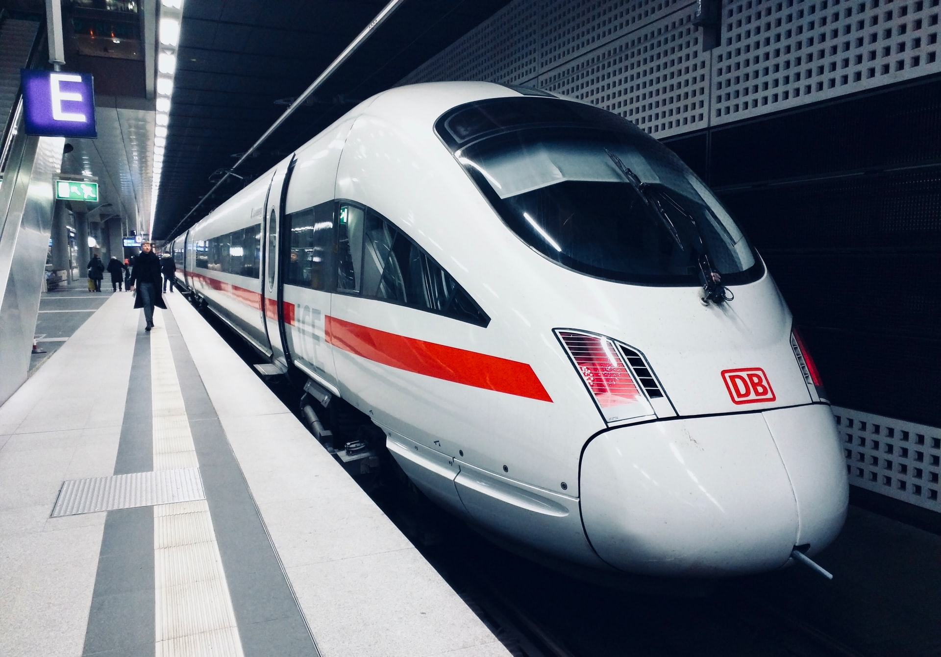A high speed rail train in Berlin, Germany. Photo courtesy of Daniel Abadia on Unsplash.