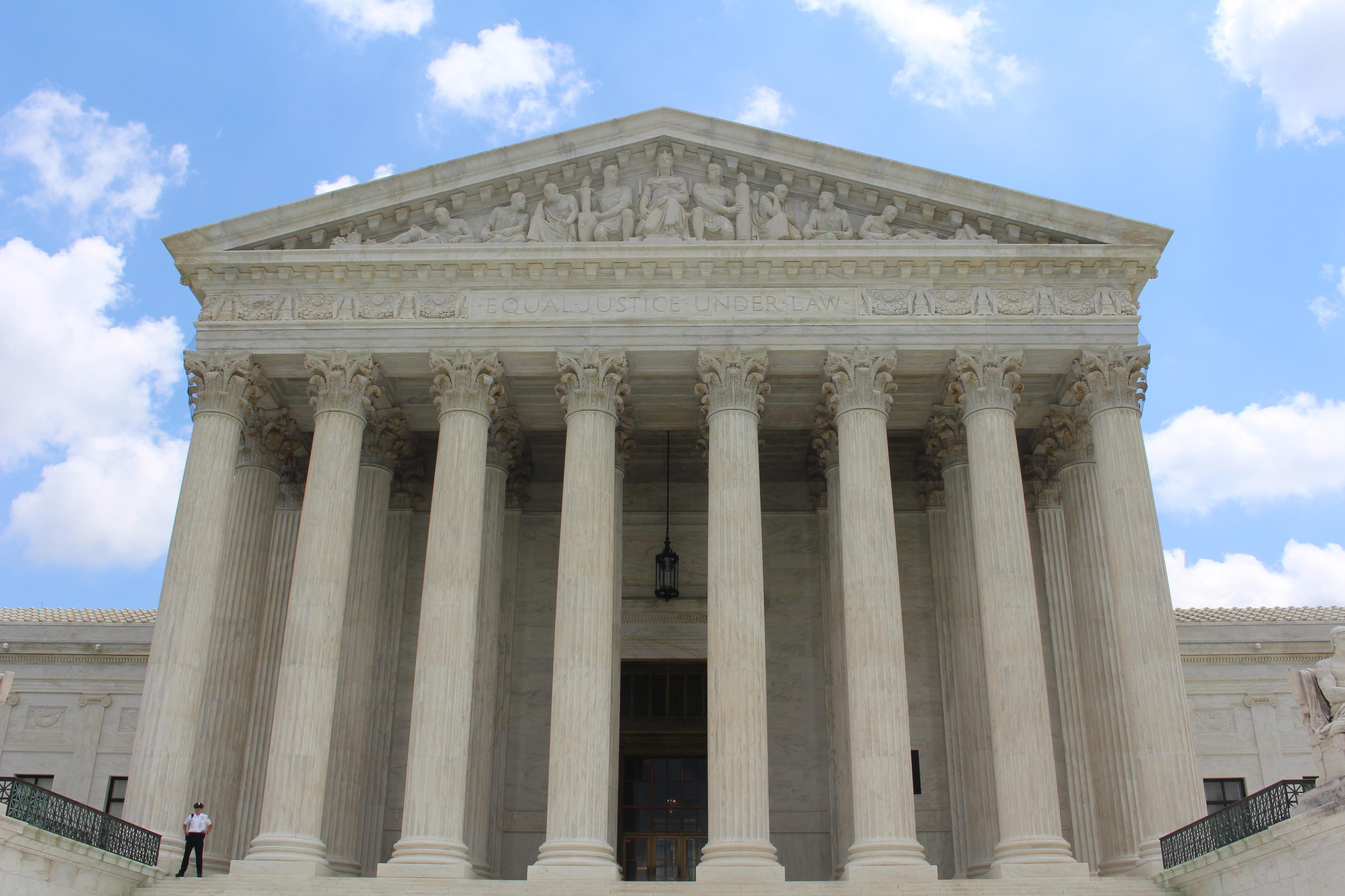 United States Supreme Court building. Photo courtesy of Claire Anderson via Unsplash.