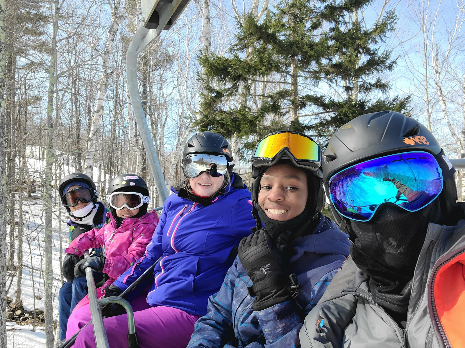 Photo of the author and his family at a ski resort in New Hampshire. Photo courtesy of Braxton Rocha.
