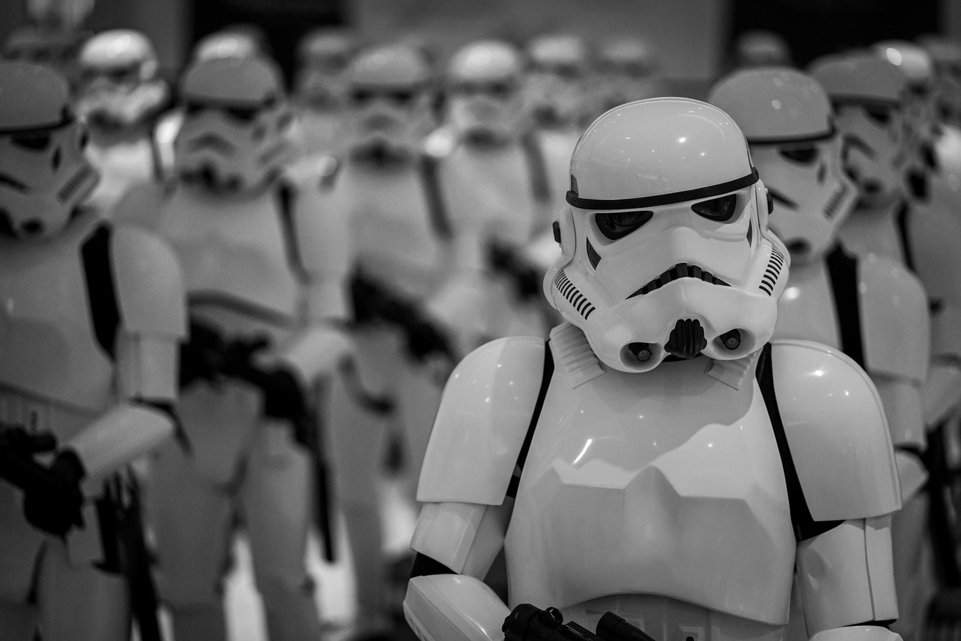 A fleet of Storm Troopers. Photo courtesy of Agnieszka Kowalczyk on Unsplash.