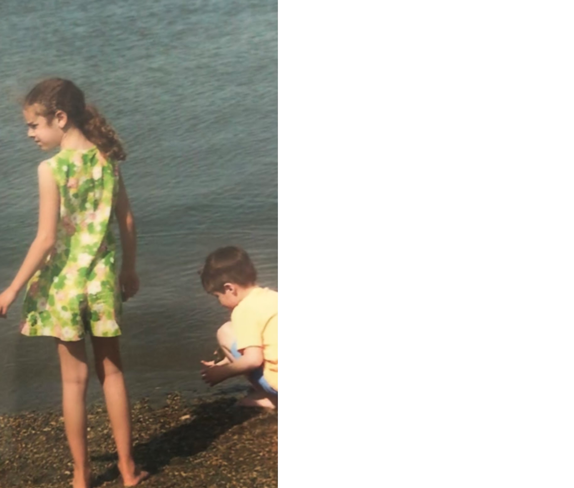 Two kids near the water. Photo provided by the author.