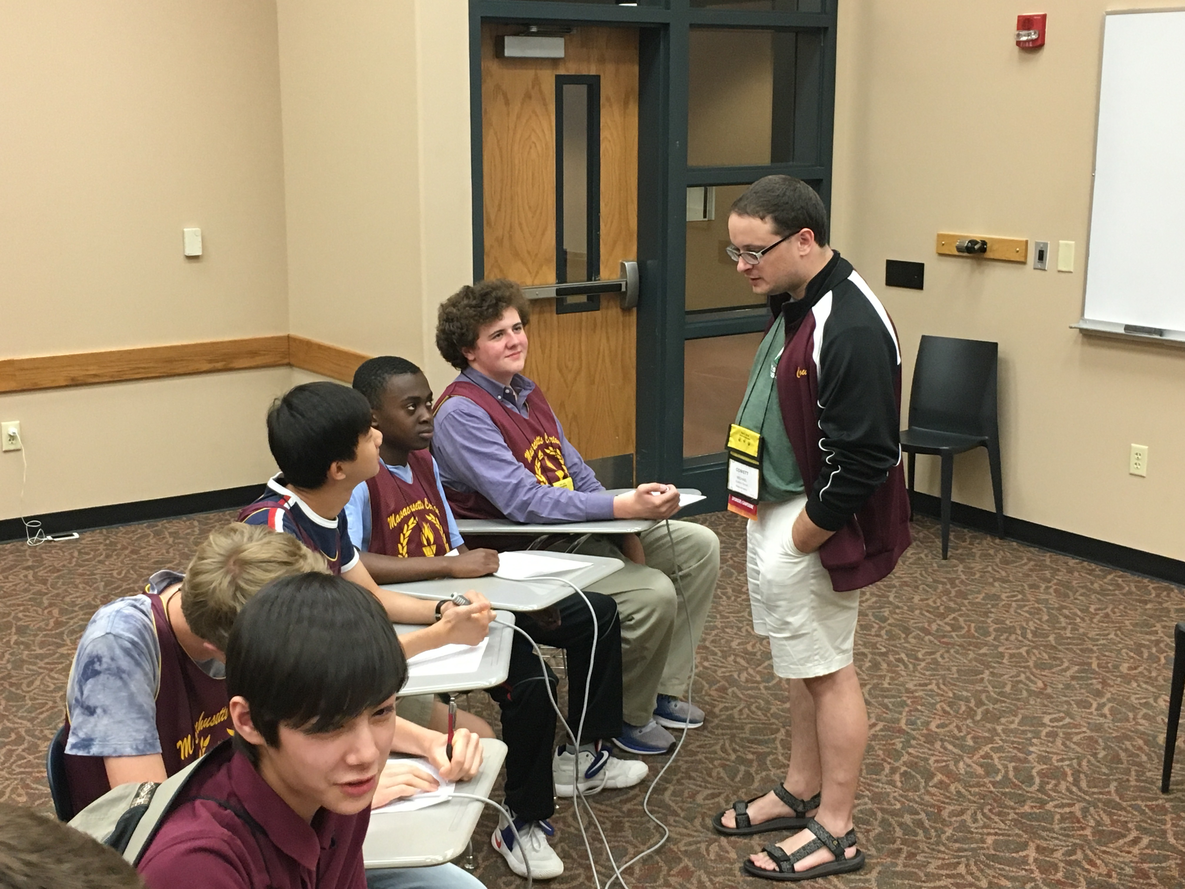 The author and his quiz bowl team. Photo courtesy of the author.