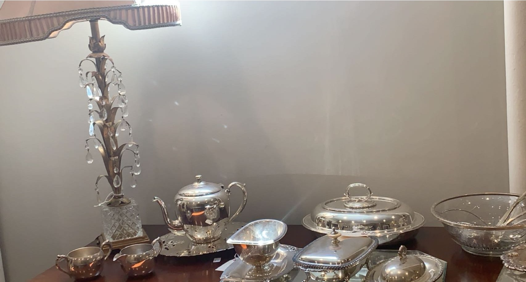 Photo of a silver teapot on a counter. Photo taken by Justis Porter.