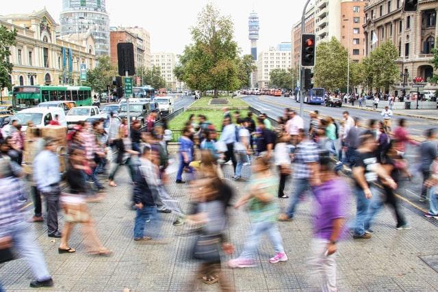 Crosswalk in long exposure. Photo courtesy of Mauro Mora on Unsplash.
