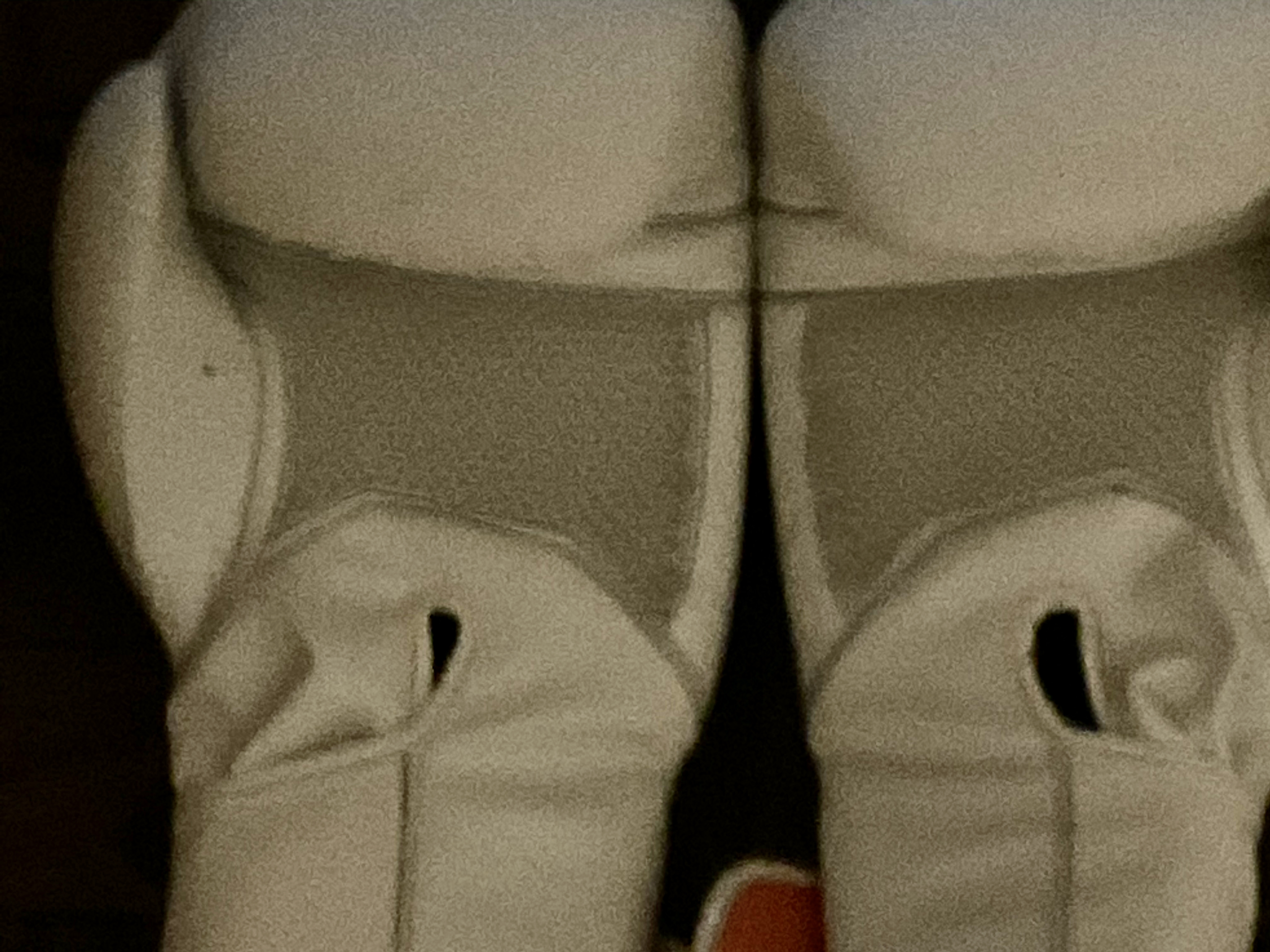 Close-up image of white boxing gloves. Photo taken by the author.