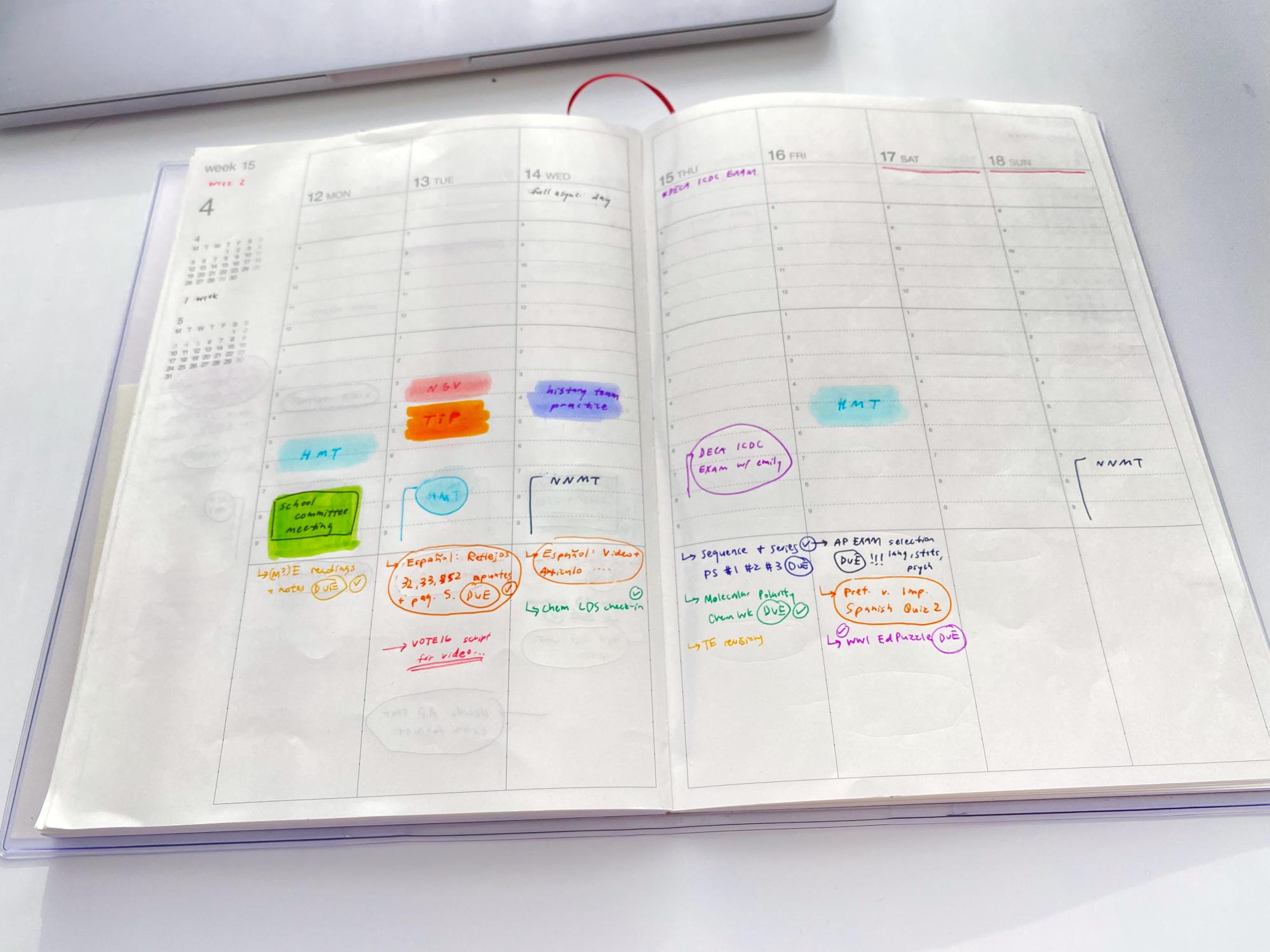 A photo of the author's physical planner. Photo courtesy of Haruka Nabeshima.