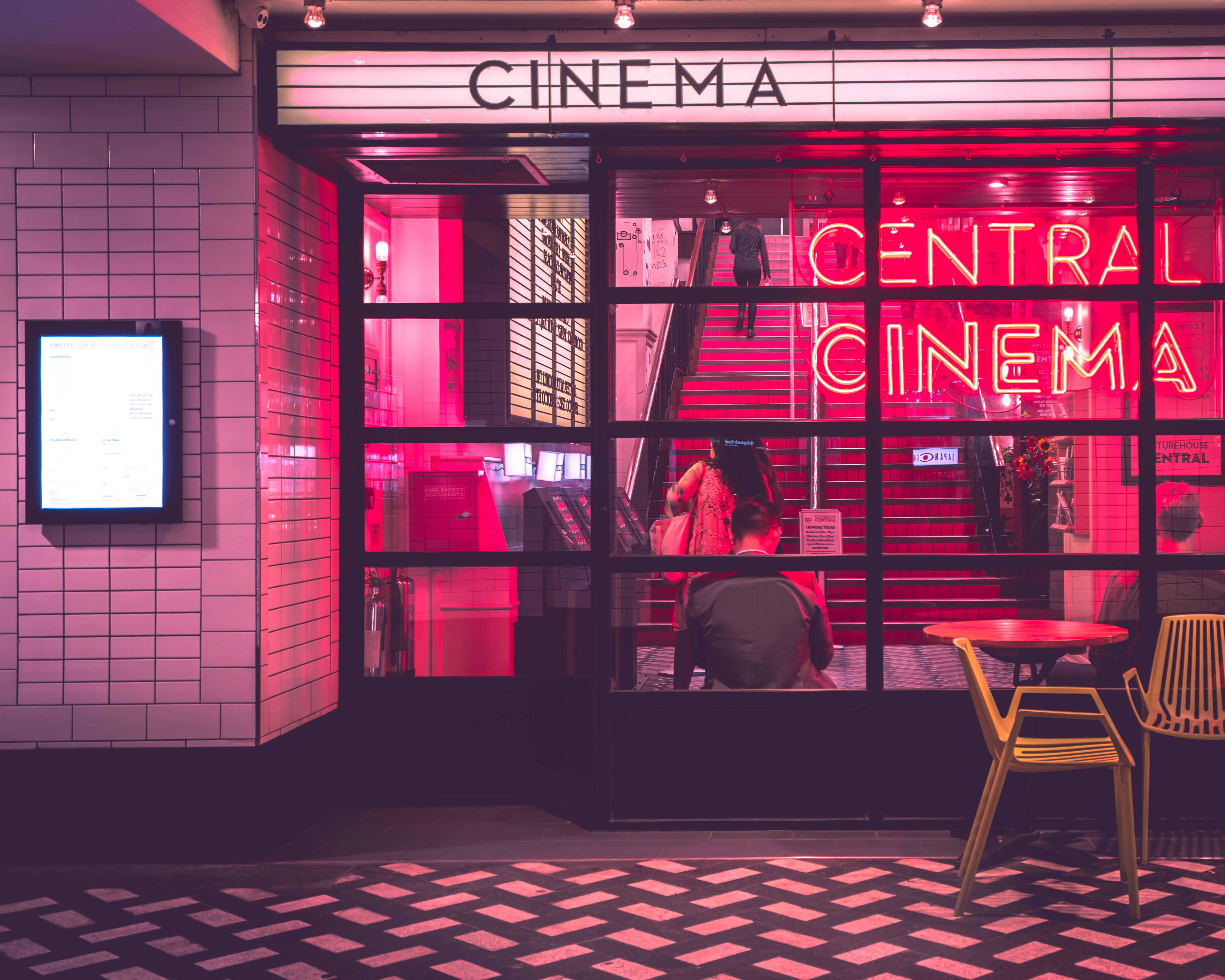 A cinema storefront. Photo by Myke Simon via Unsplash.