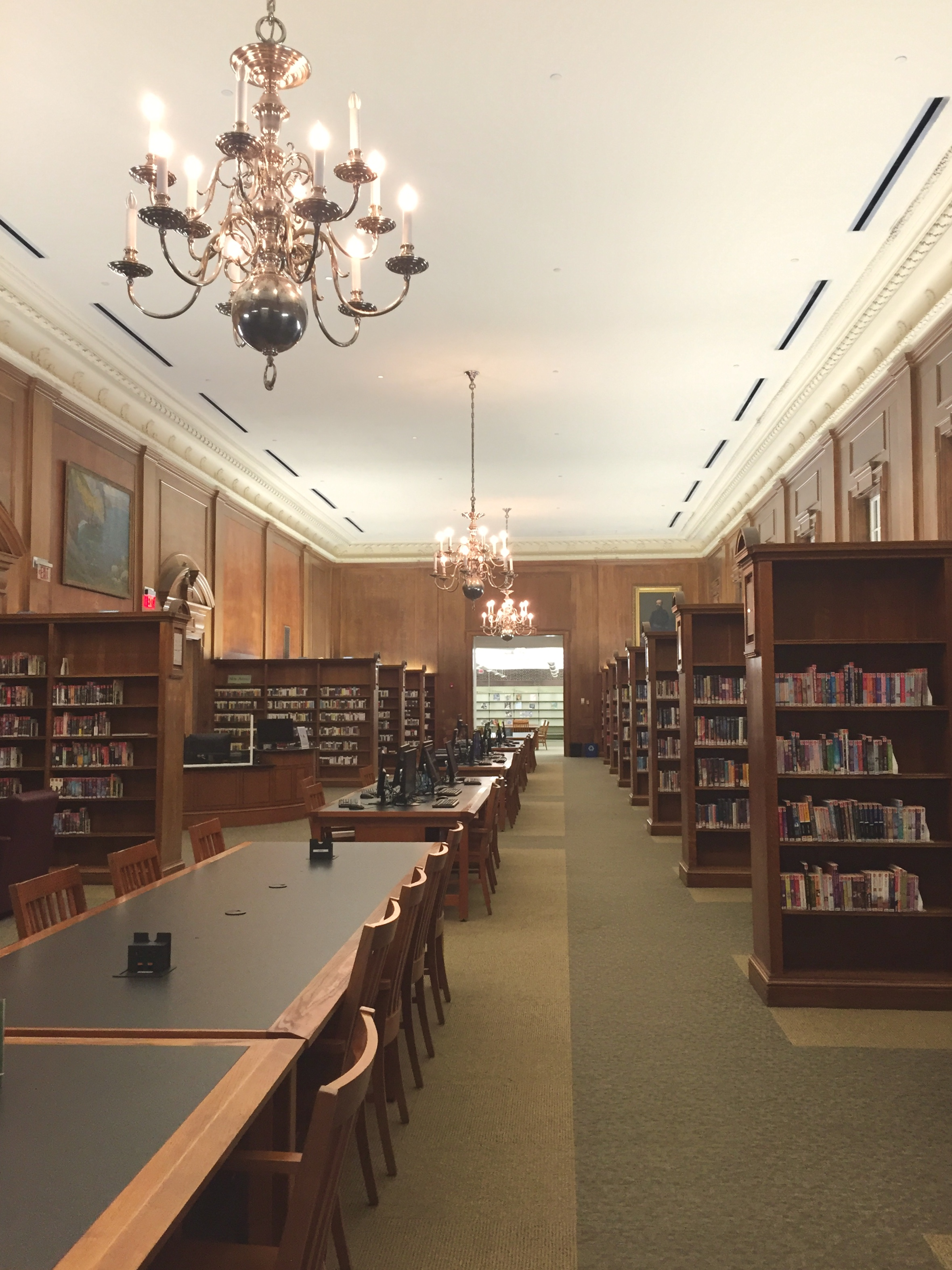 An empty study room in the author's local library. Photo taken by the author.