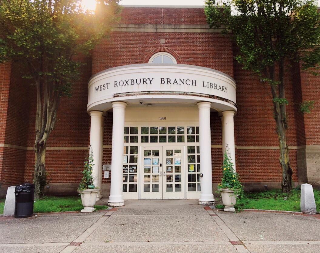 Photo of the West Roxbury Branch Library. Photo courtesy of the author.
