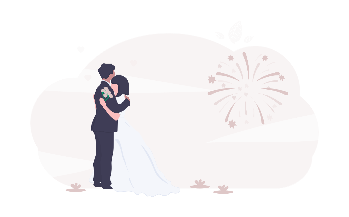 Wedding vector image via Undraw.