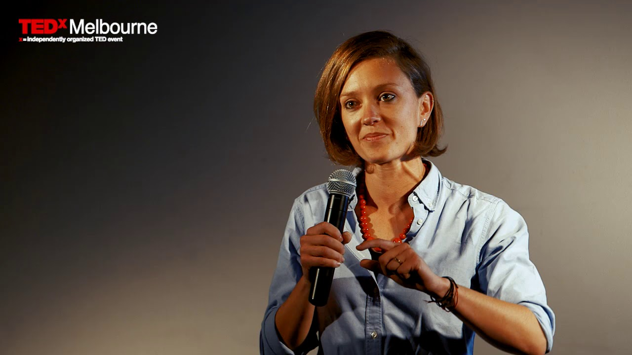 Woman Speaking at TEDx Melbourne Event