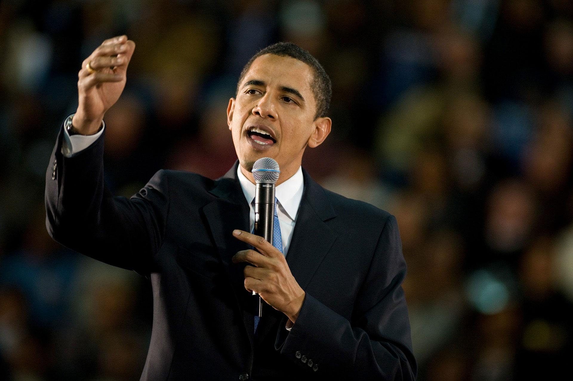 photo of President Obama's US acceptance speech