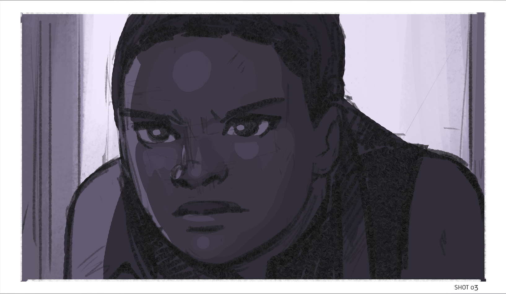 A shot from a storyboard I made.